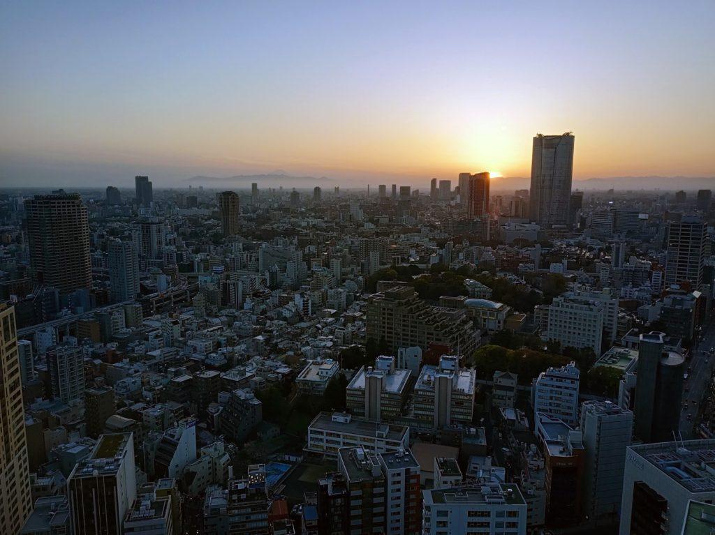 Coucher de soleil sur Tokyo